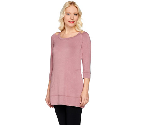 Lisa Rinna Collection Knit Tunic with Cut-Out Neck Detail