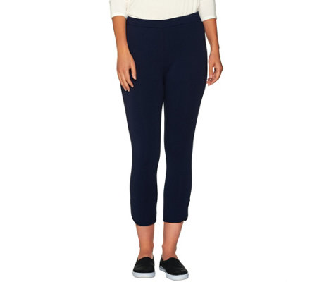 Susan Graver Weekend Stretch Cotton Modal Comfort Waist Capri Pants