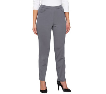 """As Is"" Bob Mackie's Ponte Knit Straight Leg Pants - A279707"