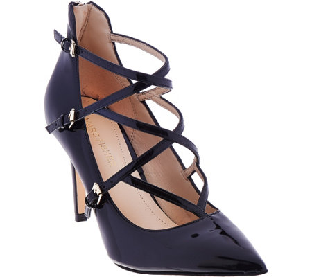 Marc Fisher Patent Cross Strap Pumps - Danger