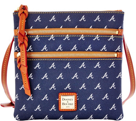 Dooney & Bourke MLB Braves Triple Zip Crossbody