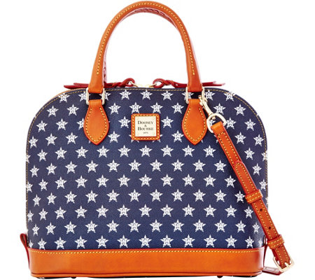 Dooney & Bourke MLB Astros Zip Zip Satchel
