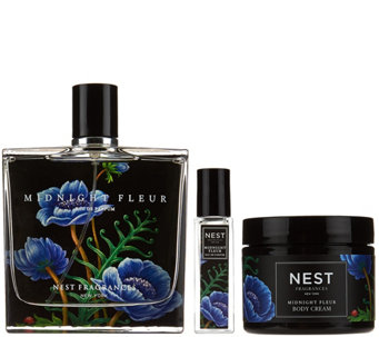 NEST Fragrances Midnight Fleur 3pc Eau de Parfum & Body Cream Set - A280307