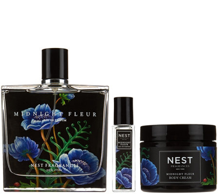 NEST Fragrances Midnight Fleur 3pc Eau de Parfum & Body Cream Set