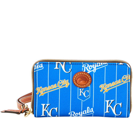 Dooney & Bourke MLB Nylon Royals Zip Around Phone Wristlet