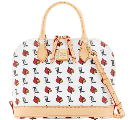 Dooney & Bourke NCAA University of Louisville Zip Zip Satchel