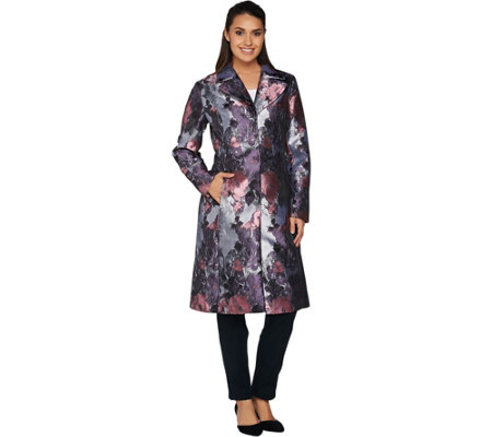 Isaac Mizrahi Live! Special Edition Floral Tapestry Coat