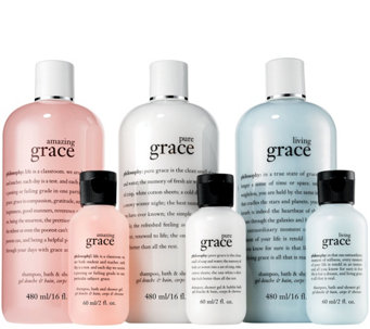 philosophy 6-piece state of grace shower gel set - A284407