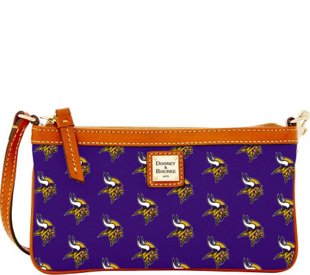 Dooney & Bourke NFL Vikings Large Slim Wristlet