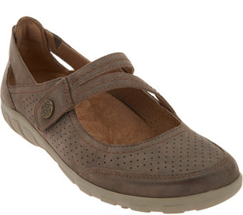 Earth Origins Perforated Mary Jane Slip-ons - Remy - A289307