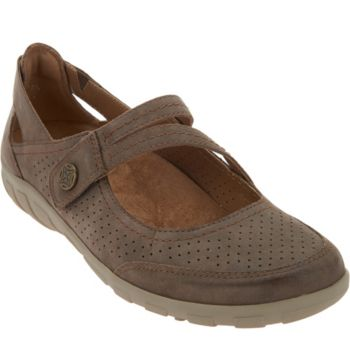Earth Origins Perforated Mary Jane Slip-ons - Remy