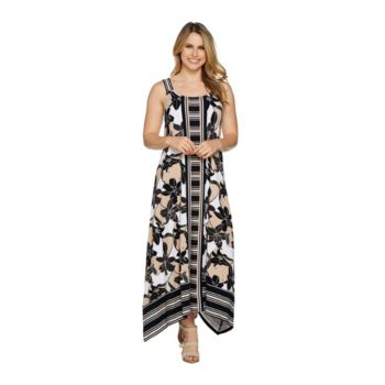 C. Wonder Regular Printed Handkerchief Maxi Dress