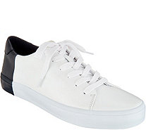 ED Ellen DeGeneres Leather Lace-up Sneakers - Darien - A296907
