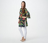 Linea by Louis Dell'Olio Tiger Lily Print Duster - A302607
