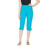 Joan Rivers Regular Joan's Signature Pull-On Capri Pants - A303907