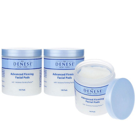 Dr. Denese Set of Three 100 Count Firming Facial Pads Auto-Delivery