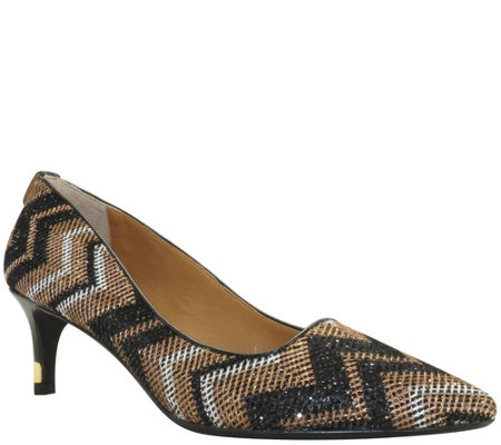J. Renee Chevron Fabric Pumps - Cady