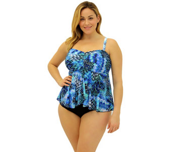 Fit 4 U Tummy Scattered Elements Bandeau Top - A339807