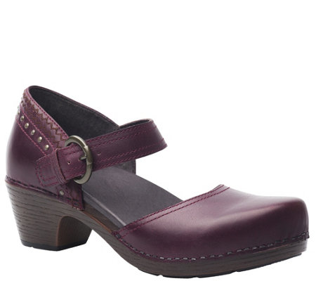 Dansko Mary Jane Leather Clogs - Makenna