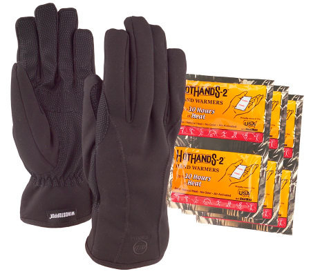 Soft-Shell Men's Gloves with Heat Packs by Manzella