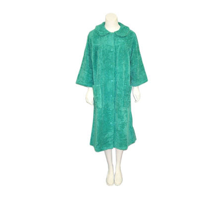 Soft Ones Women's Cotton Chenille Snap Front Robe