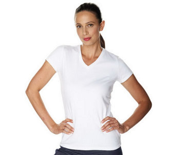 Isaac Mizrahi Live! Essentials V-Neck T-Shirt - A210208