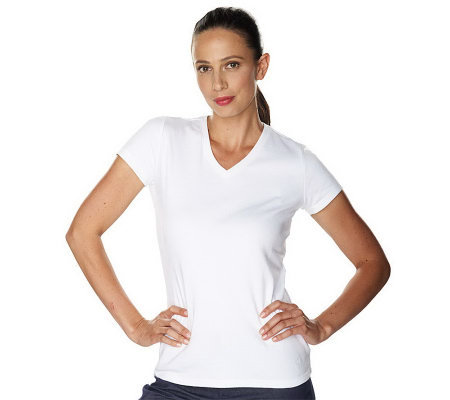 Isaac Mizrahi Live! Essentials V-Neck T-Shirt