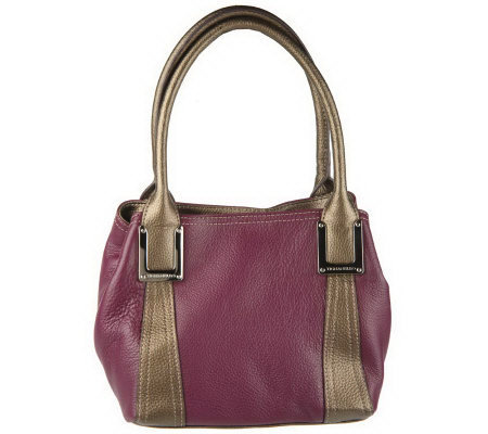 Tignanello Pebble Leather Double Handle French Tote