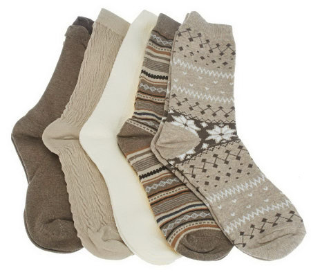 Passione Calze Set of 5 Luxury Crew Socks