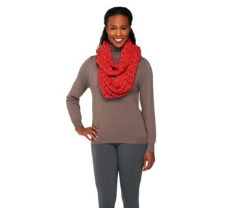 Layers by Lizden Marvelush Crochet Infinity Scarf - A226408