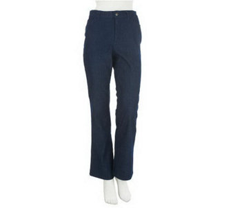 Denim & Co. Regular Modern Waist Colored Denim Boot Cut Jeans - A228108