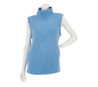 Boyne Valley Weavers Zip Front Vest - A231308