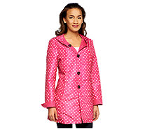 Susan Graver Reversible Printed Button Front Jacket w/ Hood - A251308