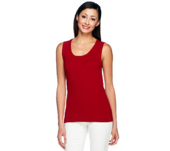 Linea by Louis Dell'Olio Whisper Knit Scoop Neck Tank - A253408