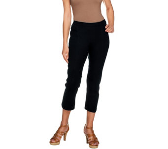 Isaac Mizrahi Live! 24/7 Stretch Crop Pull-On Pants - A254408