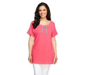 Denim & Co. Active French Terry Extended Sleeve Tunic - A254808
