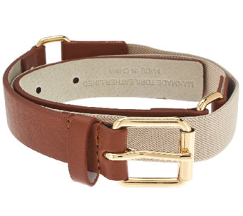 Isaac Mizrahi Live! Leather Belt w/ Harness Buckle - A264208