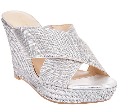 Marc Fisher Criss Cross Espadrille Wedges - Engage