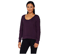 cee bee CHERYL BURKE French Terry Long Sleeve Top - A268608