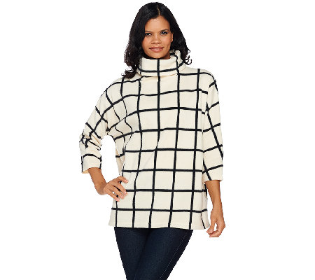 Susan Graver Weekend Printed Polar Fleece Pullover Top