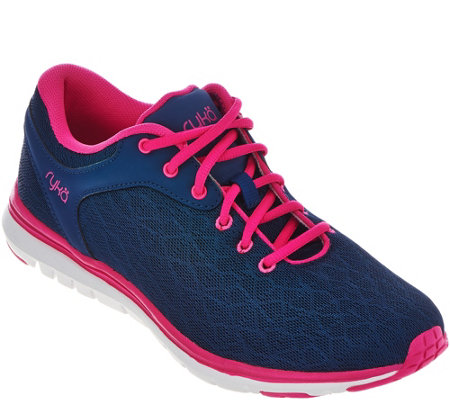 Ryka Mesh Training Lace-up Sneakers w/CSS - Cygnus