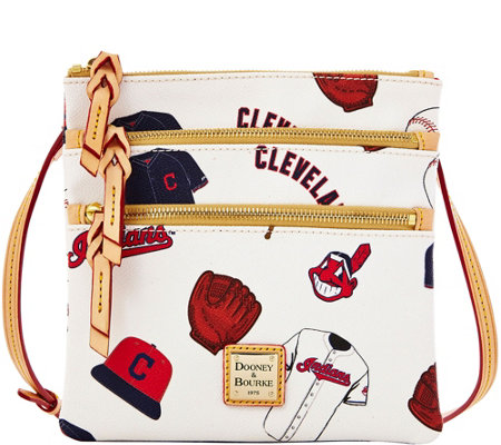 Dooney & Bourke MLB Indians Triple Zip Crossbody