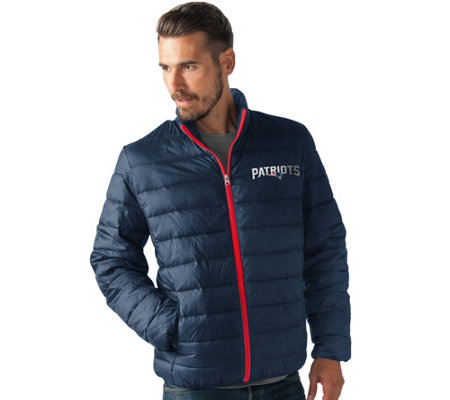 NFL Full Zip Quilted Packable Polyfill Jacket