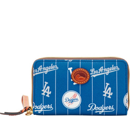 Dooney & Bourke MLB Nylon Dodgers Zip Around Phone Wristlet
