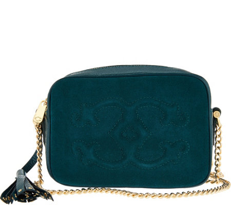 C. Wonder Pebble Leather and Suede Crossbody Handbag
