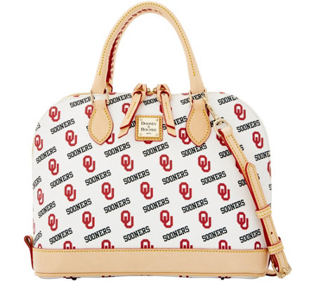 Dooney & Bourke NCAA University of Oklahoma Zip Zip Satchel