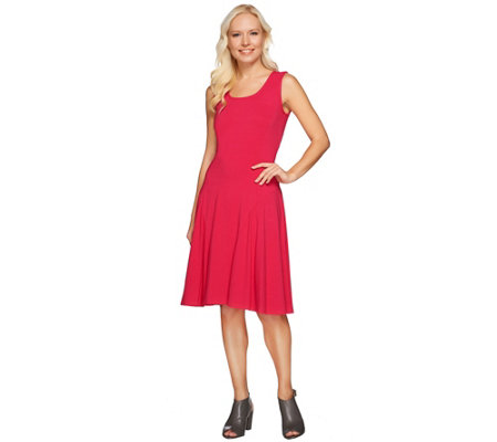 """As Is"" Susan Graver Dolce Knit Sleeveless Dress"