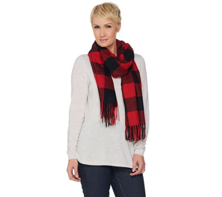 Denim & Co. Yarn Dye Plaid Scarf
