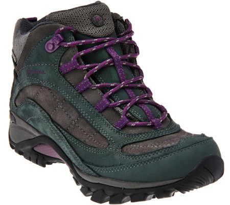 Merrell Waterproof Leather Hiking Boots - Siren Mid