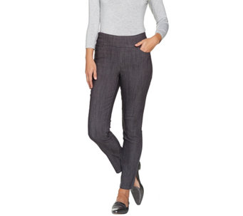 "Denim & Co. ""How Smooth"" Petite Colored Denim Ankle Pant - A286108"